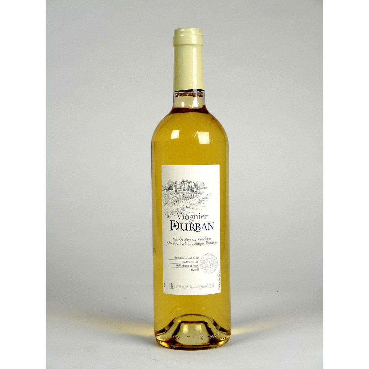 Vin de Pays de Vaucluse: Domaine de Durban Viognier 2019 - Bottle