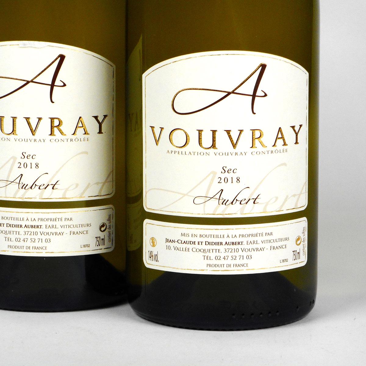 Vouvray: Jean-Claude & Didier Aubert Sec 2018