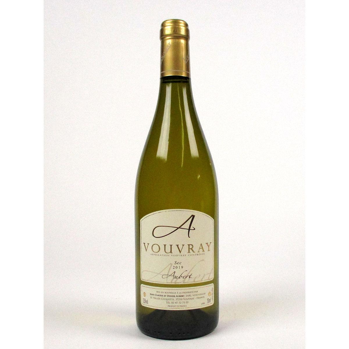 Vouvray: Jean-Claude & Didier Aubert Sec 2019 - Bottle