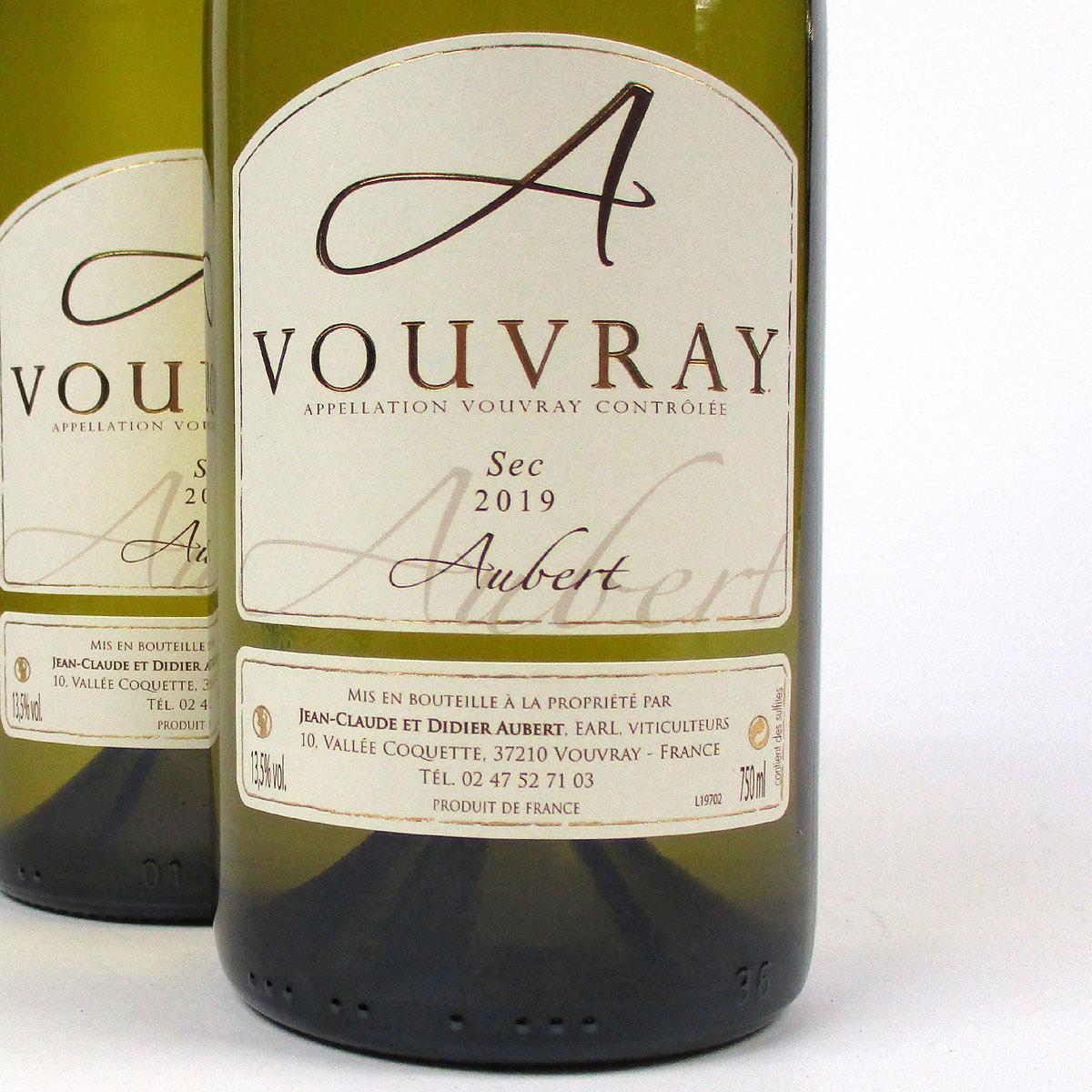 Vouvray: Jean-Claude & Didier Aubert Sec 2019