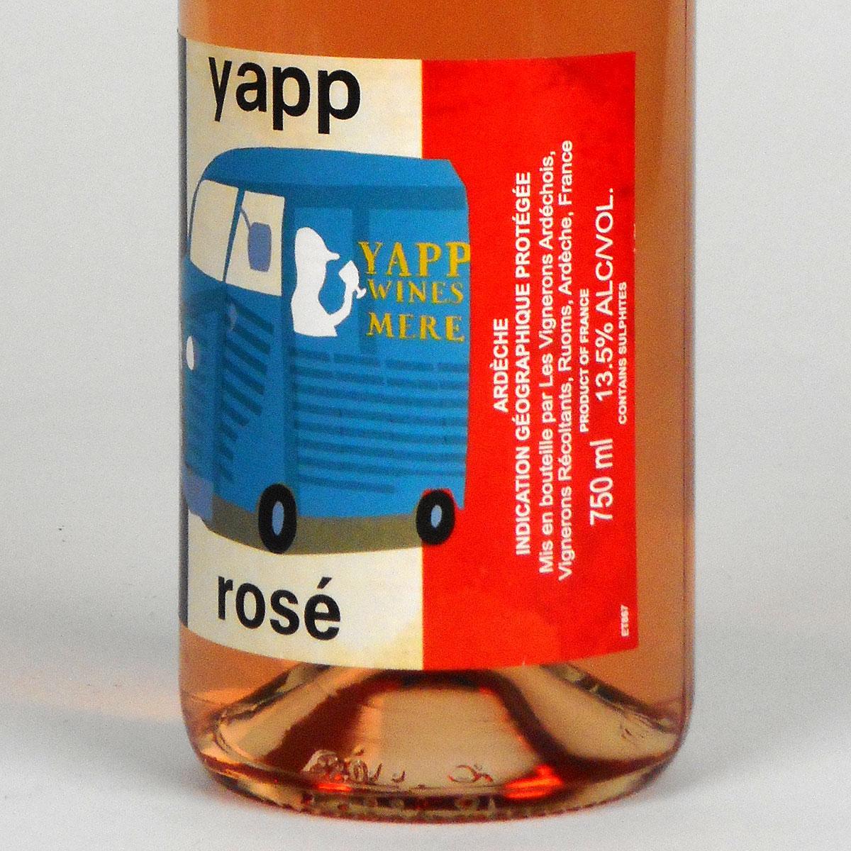 Yapp Rosé 2019 - Bottle Side Label