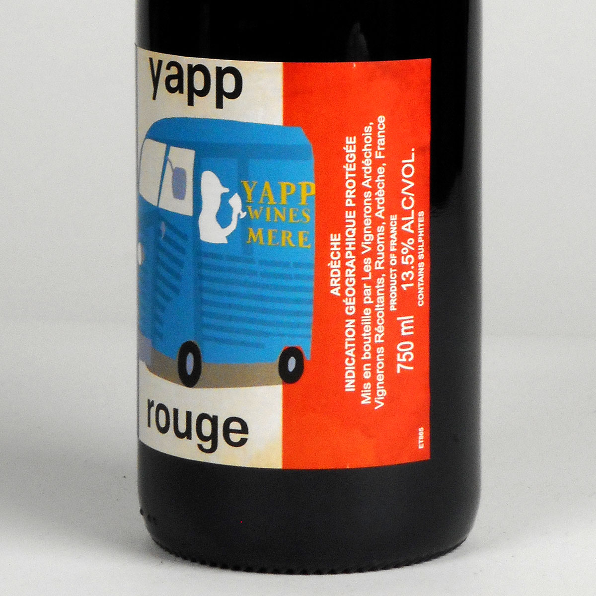 Yapp 'Own Label' Rouge 2018 - Bottle Side Label