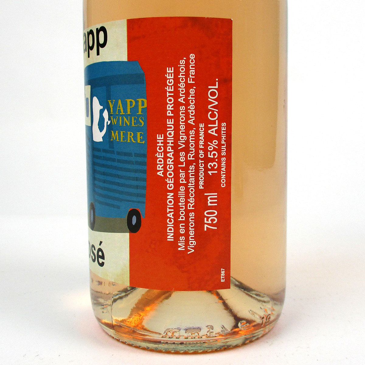 Yapp Rosé 2020 - Bottle Label Side