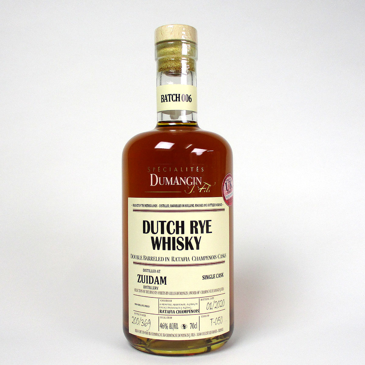 Zuidam Dutch Rye Whisky: Spécialités Dumangin - Bottle