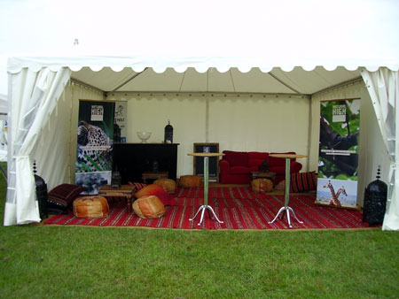 Yapp Brothers tent - Gillingham and Shaftsbury show