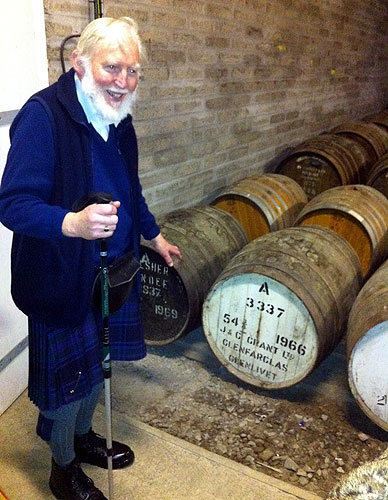 Frank at Edradour Whisky Distillery