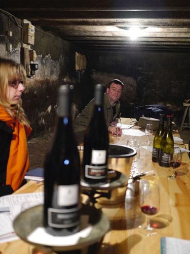 Meirion Williams wine tasting in Beaujolais
