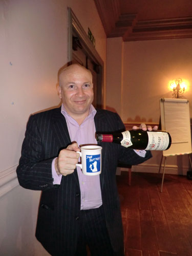 Ronan Sayburn demonstrates how not to serve Hermitage