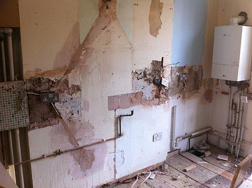 Kitchen being re-built