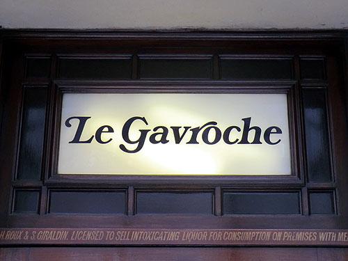 Le Gavroche sign