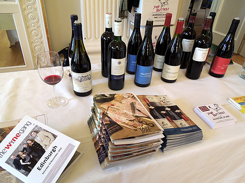 The Yapp table at The Wine Gang event - Edinburgh