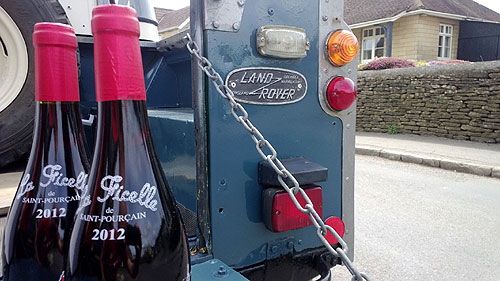 Land Rover and Red Wine
