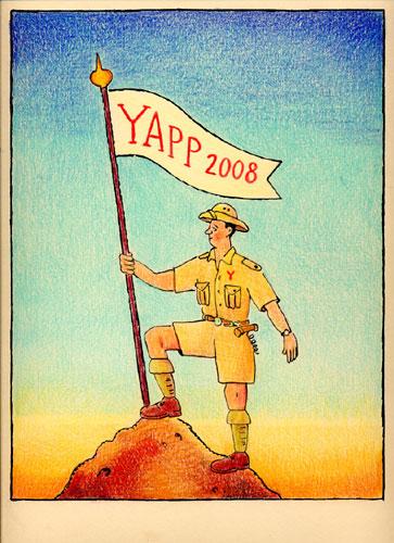 Glen Baxter - 2008 Yapp Catalogue-cover