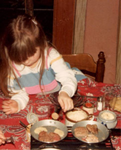 A Vintage Photo of Bianca & her Gourmet Set