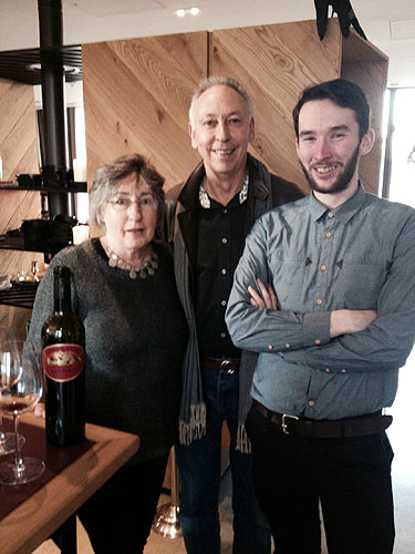 Ron & Elva Laughton (Jasper Hill) with Fergus Muirhead (Head Sommelier)