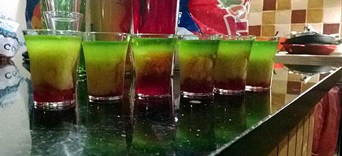 Squashed Frog cocktails