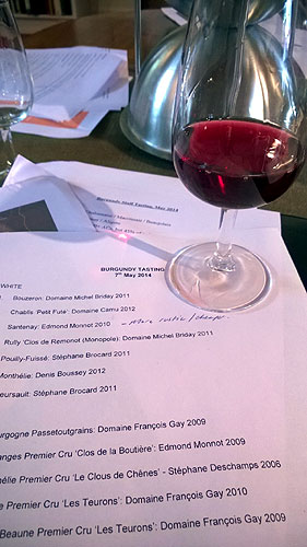 Burgundy wine tasting - May 2014