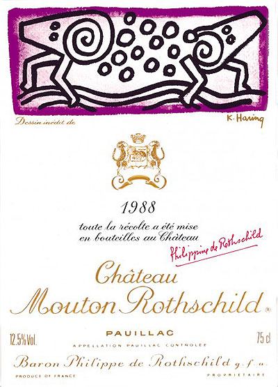 Mouton-Rothschild 1988: Keith Haring Label