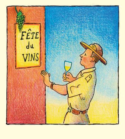 Glen Baxter - 'fete du vins'