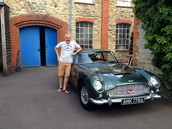 JY with Aston Martin DB5