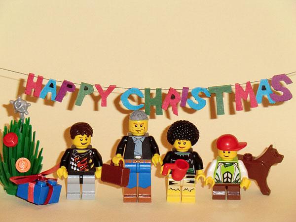 Lego Christmas Card