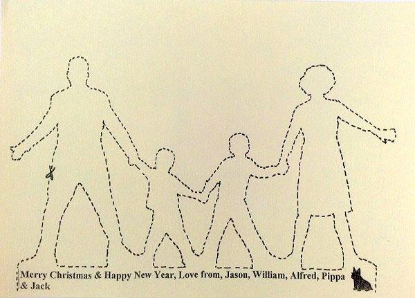 Scissors christmas card
