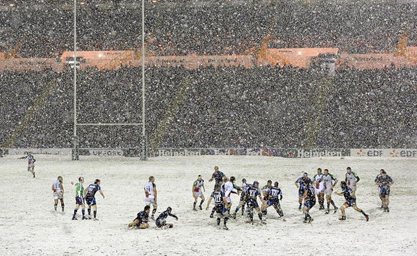 Harlequins - rugby in the snow
