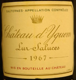 Sauternes: Château d'Yquem 1967