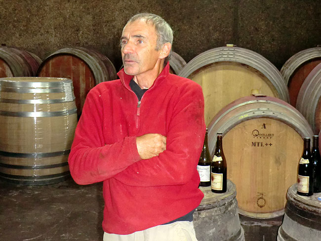 Joel Champet in his cellars