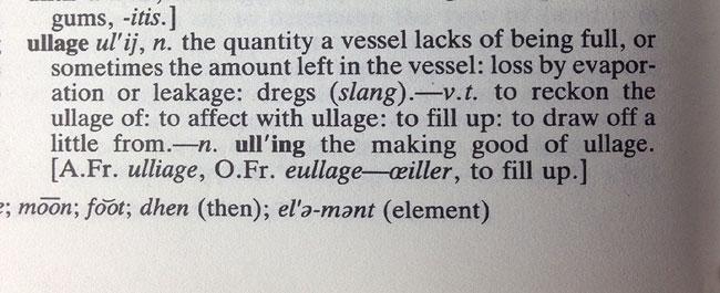 ullage definition