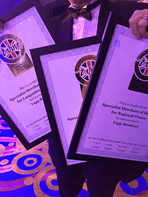 IWC Awards 2015 - certificates