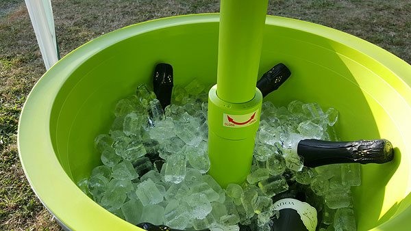 Vouvray in ice bucket