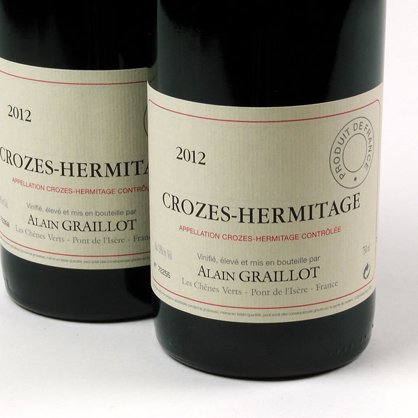 Crozes Hermitage Rouge - Alain Graillot 2012
