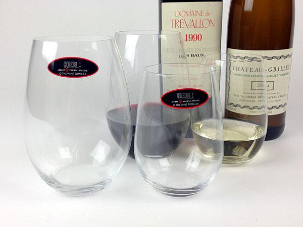 Reidel 'O' series wine glasses