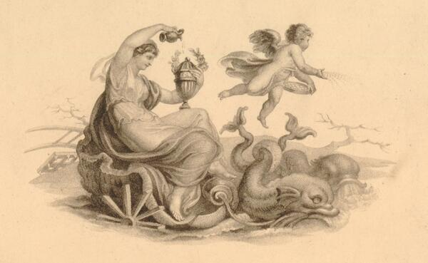 Februa in a shell; after Edward Francis Burney. Britishmuseum.org