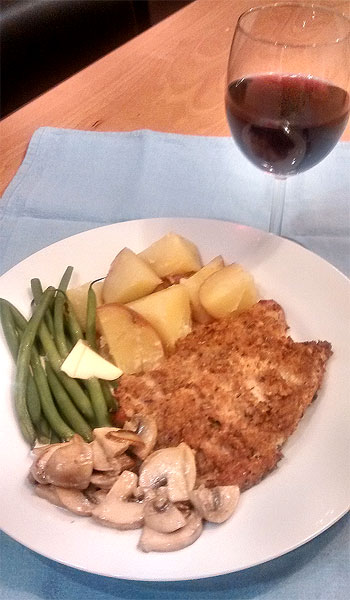 food and wine matching pork steaks