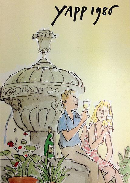 Quentin Blake - Yapp Brothers wine list 1986