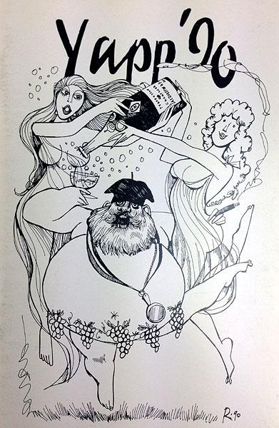 Willie Rushton - Yapp Brothers wine list 1990