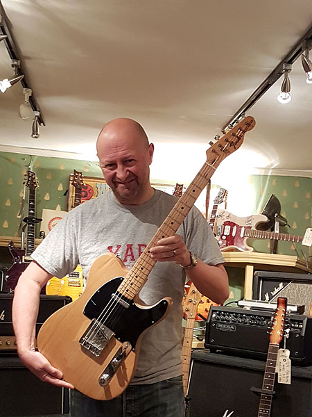 Hamish with 1973 Fender Telecaster