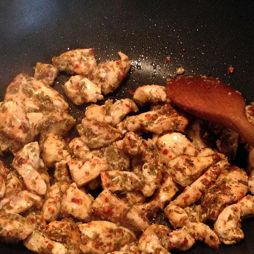 chicken fajita preparation
