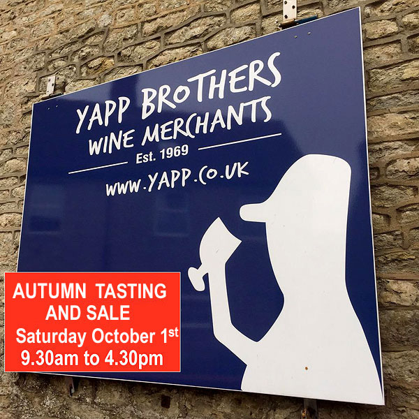 Yapp Brothers Autumn Tasting and Sale 2016