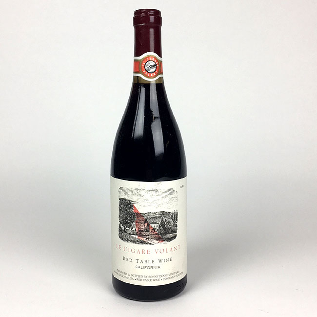 Le Cigare Volant Californian Red Table Wine 1987