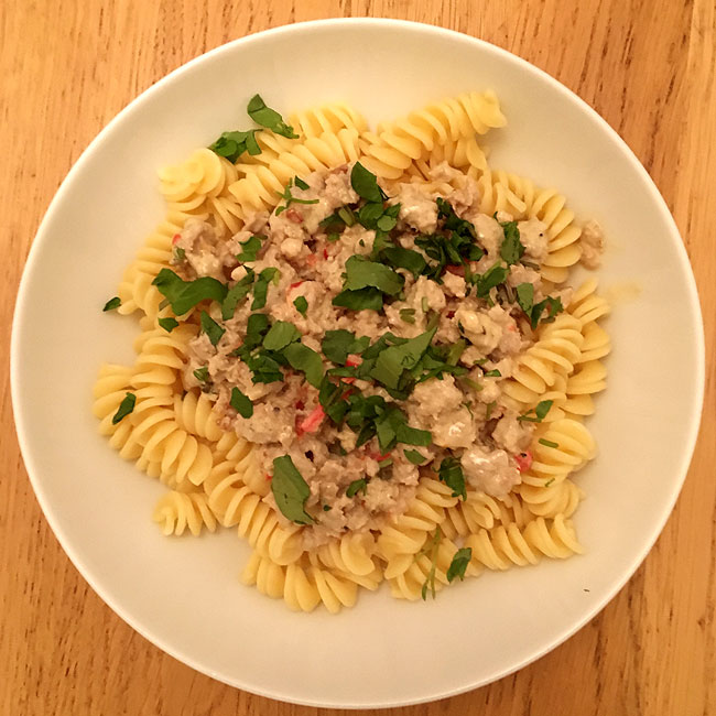 Nigel Slater - Spicy Sausage Pasta