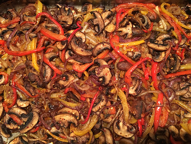 Fajita Spiced Mushrooms & Peppers