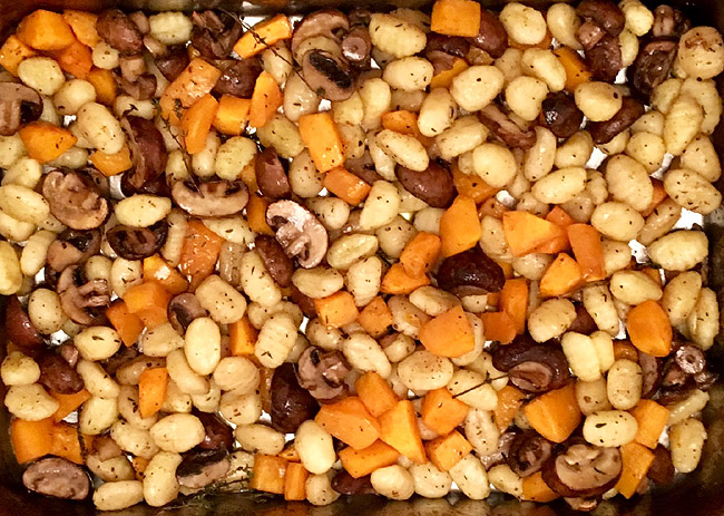 Gnocchi with Butternut Squash and Chestnut Mushrooms