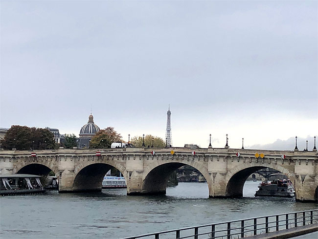 Pont Neuf and Eiffel Tower
