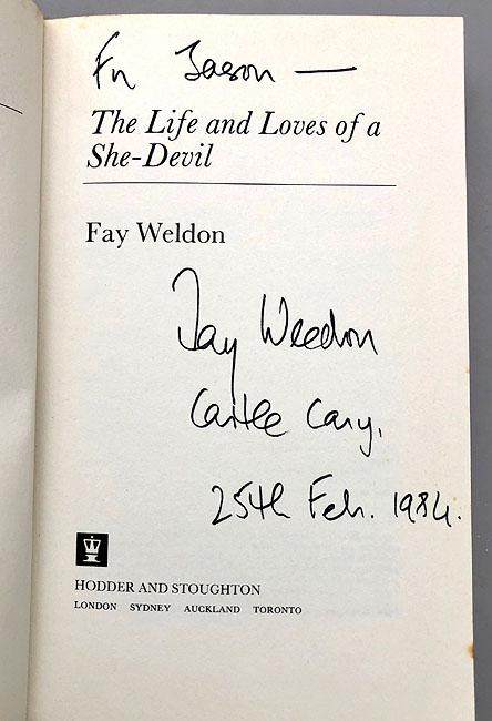 Fay Weldon - The Life and Loves of a She Devil (Signed)