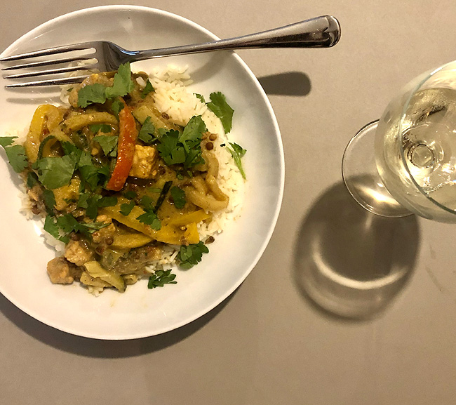 Tempeh Green Curry