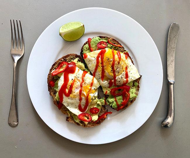 Poached Eggs - Avocado - Sourdough - Sr Racha