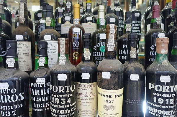 Vintage Port Bottles